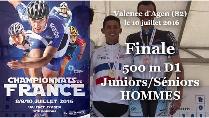Elton DE SOUZA Champion de France RollerPiste 2016 au JHSH 500m D1 Vitesse @FFRollerSports #TvLocale_fr #TarnEtGaronne @Occitanie